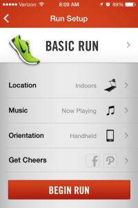 Nike+ Calibration