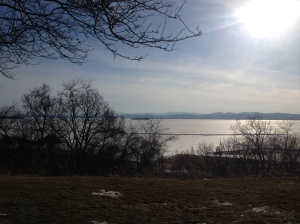 The view over Lake Champlain