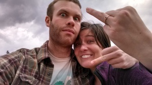 Yes, this is the photo we used to announce our engagement to Facebook and the world.  Yes, we are super classy.