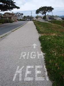 Not my bike path, but the same printing appears on mine in many spots