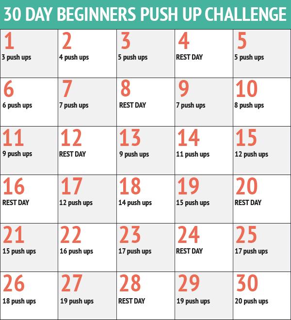 30 Day Push-up Challenge – Darlin' Rae