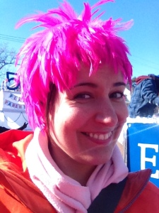 My awesome pink wig